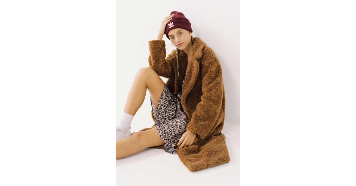 9597551a2 Urban Outfitters Brown Uo Teddy Duster Coat