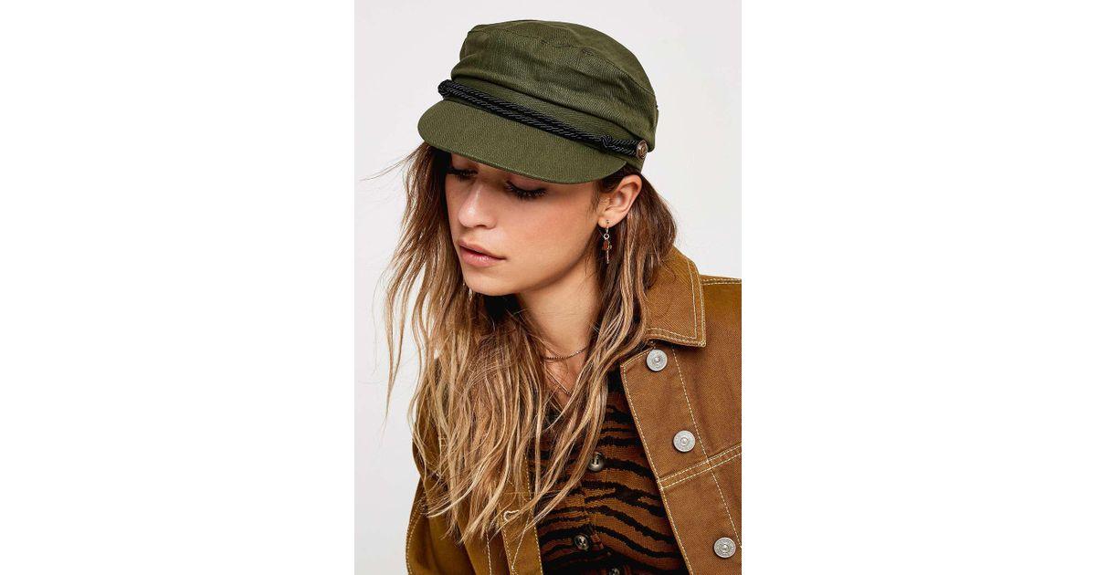 fb7404d0238 Urban Outfitters Uo Khaki Baker Boy Cap - Womens All in Green - Lyst