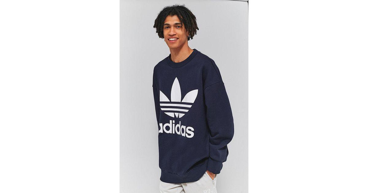 adidas Originals Legend Ink Oversized Adicolor Crewneck Sweatshirt in Blue  for Men - Lyst 51d482ef3f89