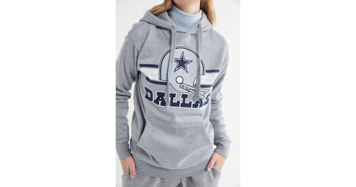 separation shoes 26169 90742 Mitchell & Ness Gray Dallas Cowboys Hoodie Sweatshirt