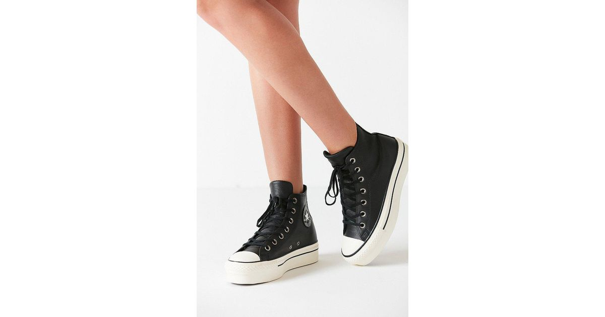 889ad1dcfeb Lyst - Converse Converse Chuck Taylor All Star Platform High Top Sneaker in  Black