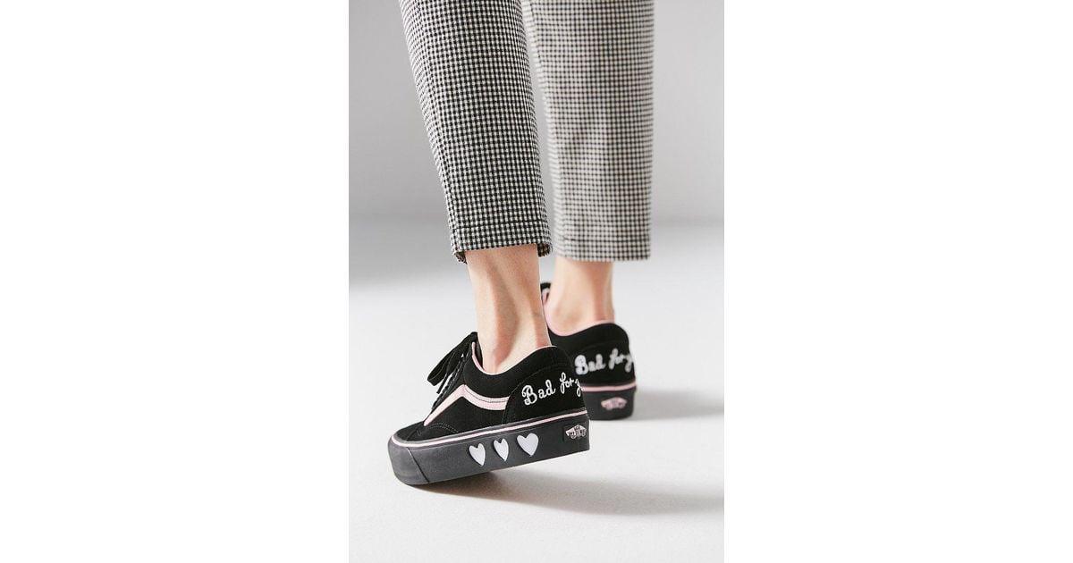 vans x lazy oaf old skool platform schoenen