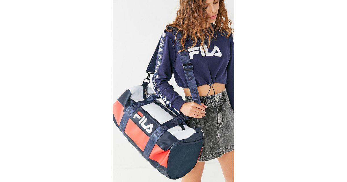 Lyst - Fila Fila Major Stripe Duffle Bag in Blue 88fc12c78339d