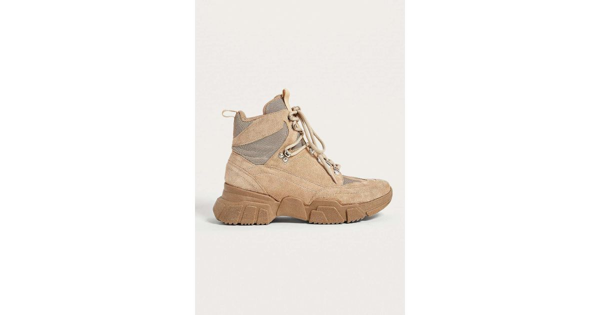 13a9c19d5f1 Urban Outfitters Natural Uo Brooklyn Leather Hybrid Hiker Boots - Womens Uk  3
