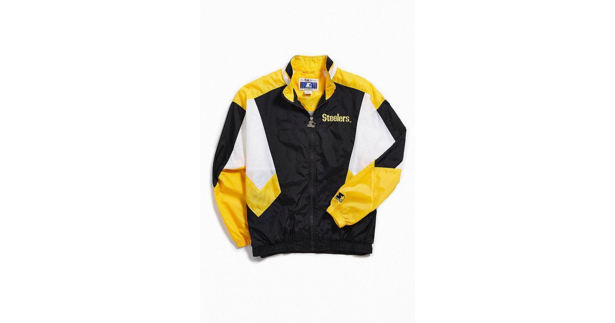wholesale dealer 63e3a 705f0 Urban Outfitters Black Vintage Starter Pittsburgh Steelers Coach Jacket for  men