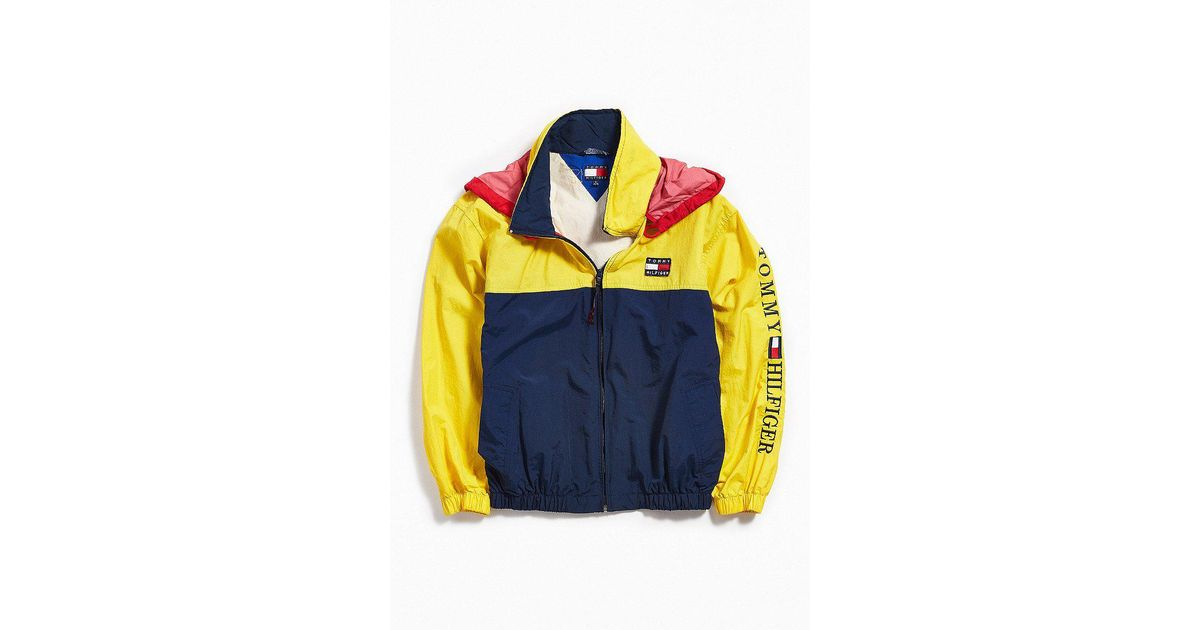 05dc3a2f Urban Outfitters Vintage Tommy Hilfiger Yellow + Navy Windbreaker Jacket in  Yellow for Men - Lyst