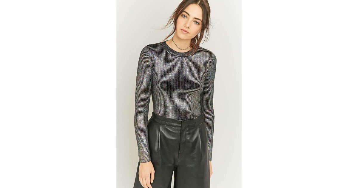 f6cf037d9 Sparkle   Fade Metallic Ribbed Knit Jumper - Womens S in Blue - Lyst