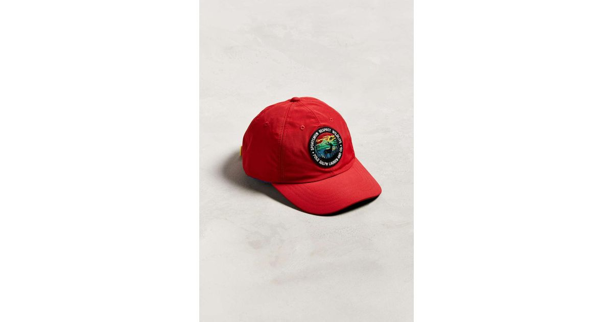 48ebbd63 Polo Ralph Lauren Sportsmen Classic Baseball Hat in Red for Men - Lyst