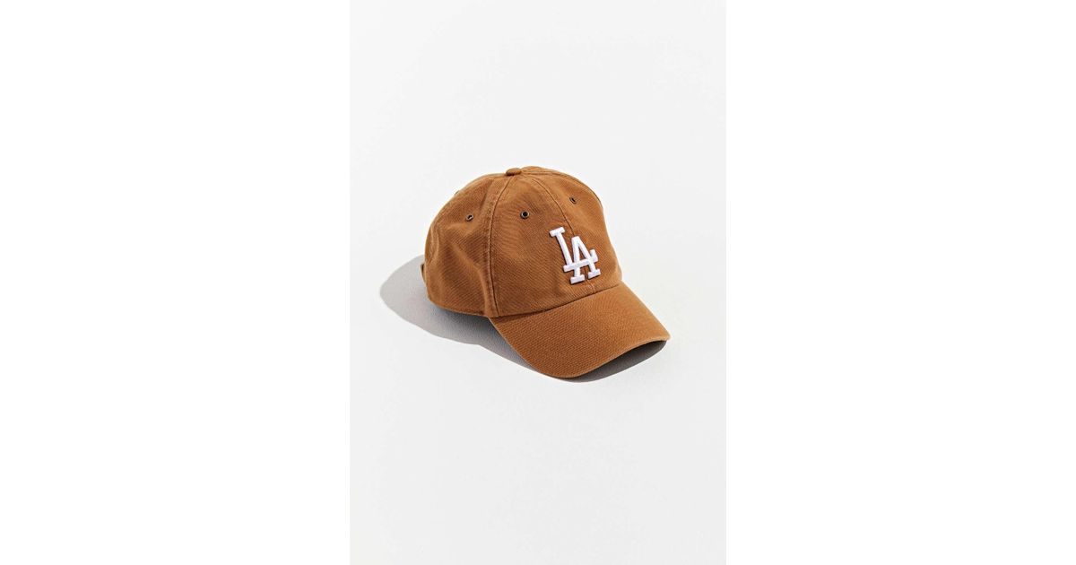 1a732bbd 47 Brand Natural X Carhartt Los Angeles Dodgers Dad Baseball Hat for men