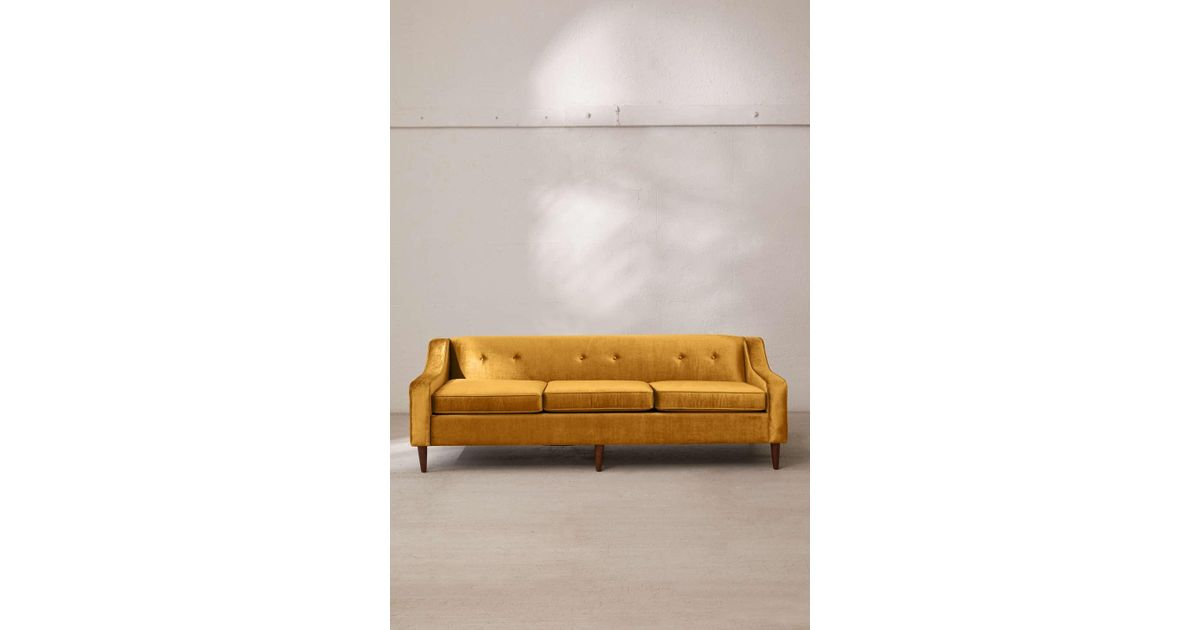 Excellent Urban Outfitters Metallic Milly Velvet Sofa For Men Bralicious Painted Fabric Chair Ideas Braliciousco