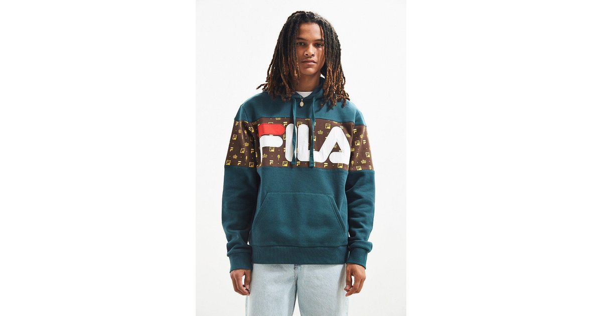 Fila Blue Fila + Uo Monogram Hoodie Sweatshirt for men