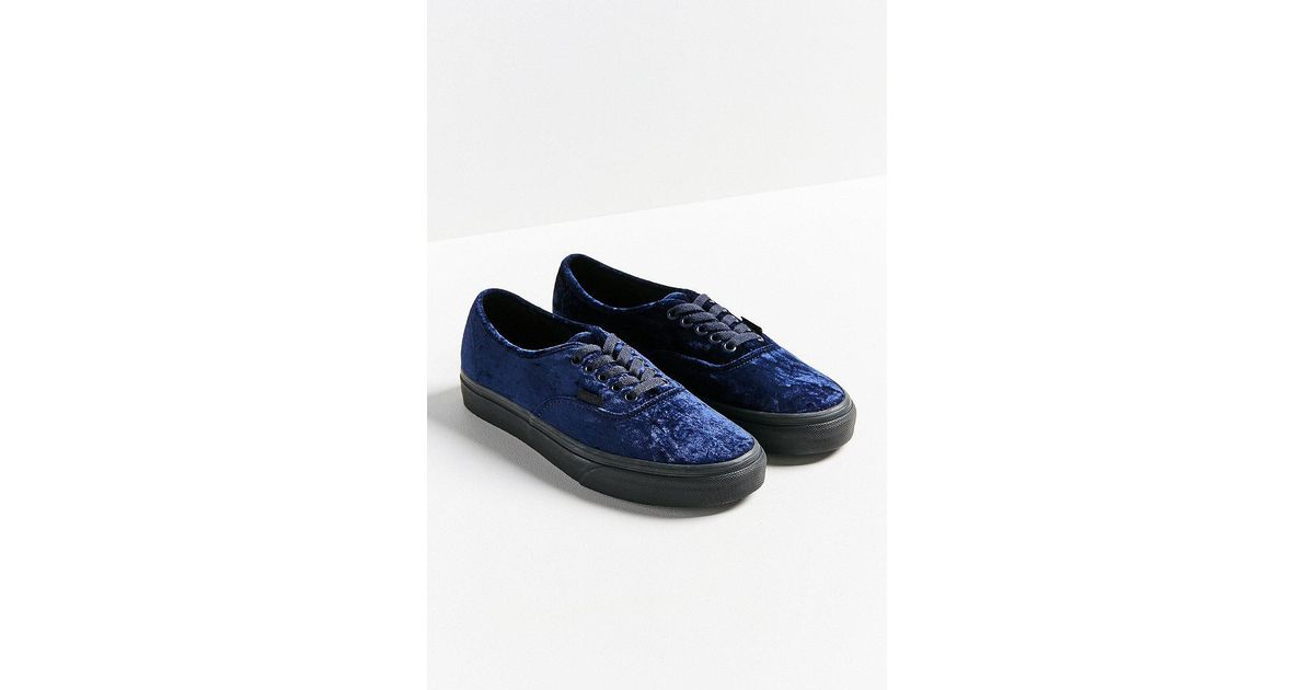 9fd1eb0661b Vans - Blue Velvet Authentic Sneaker - Lyst