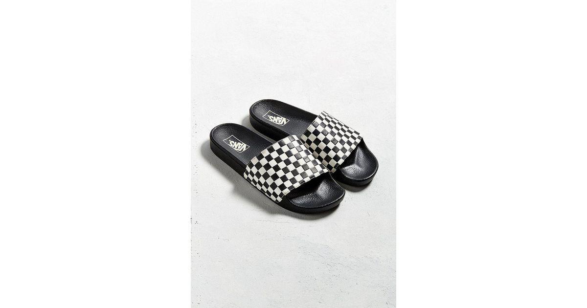 8ff63ebebfd Vans Vans Slide-on Checkerboard Sandal in Black - Lyst