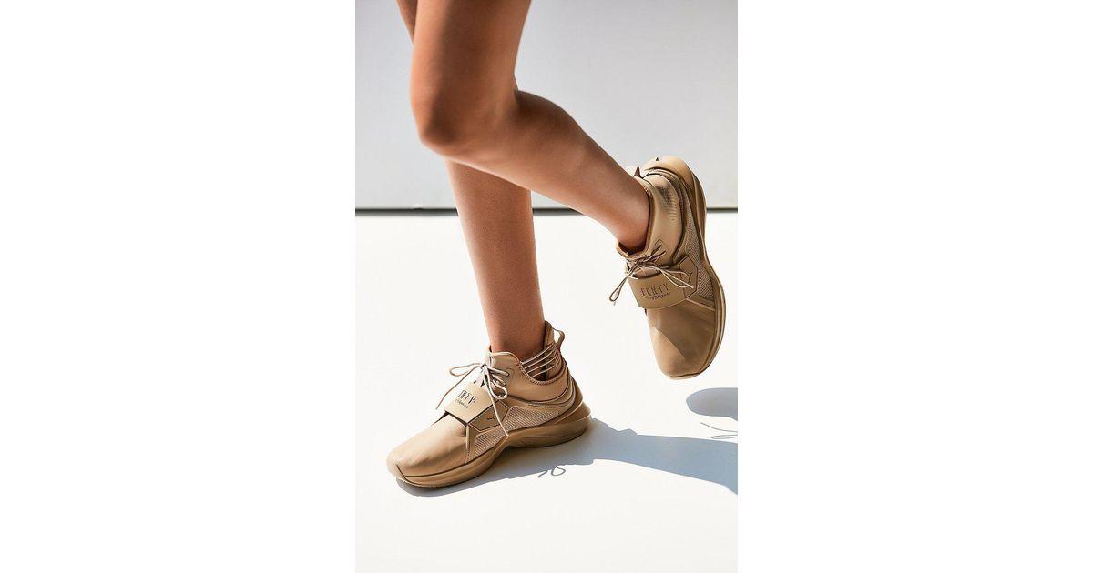 490010e29b15 Lyst - PUMA Fenty By Rihanna Trainer Hi Leather Sneaker in Natural