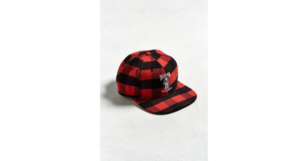 Lyst - Urban Outfitters Embroidered Death Row Records Plaid Snapback Hat in  Red for Men 1a189910ef3c