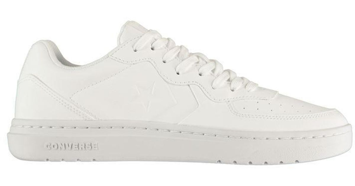 converse ox rival leather trainer