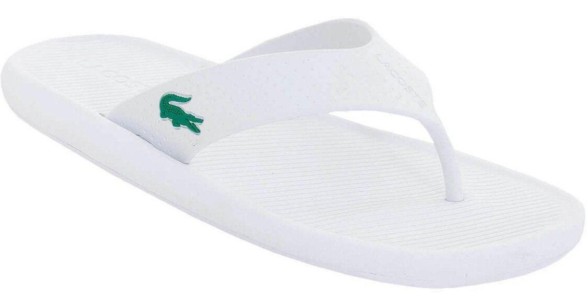 30b5b4811 Lyst - Lacoste Croco Sandal 219 1 Cfa in White