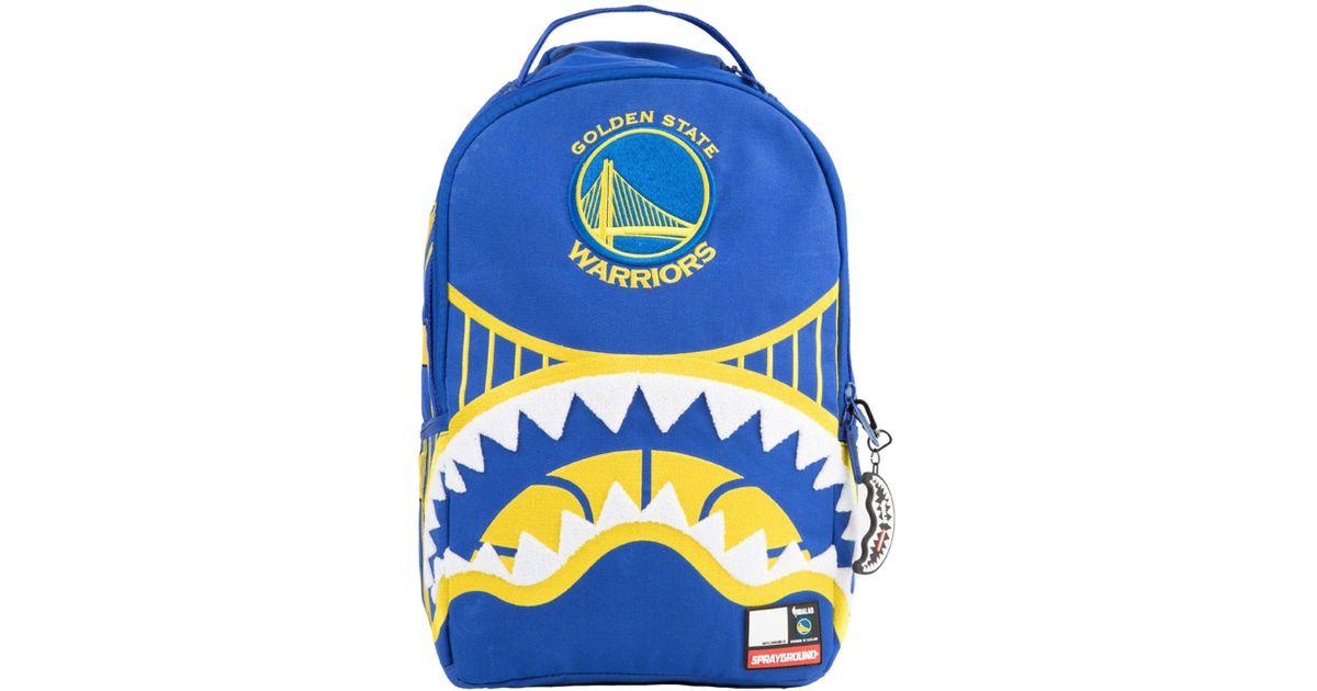 Sprayground Blue Golden State Warriors Shark Mouth Backpack