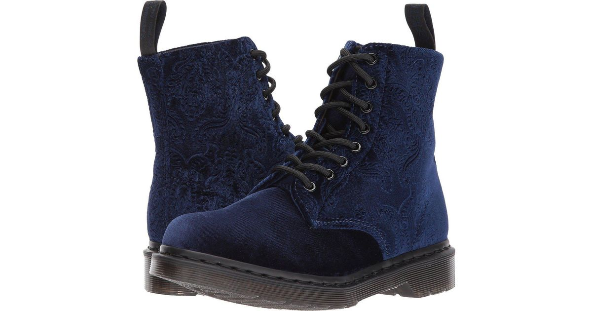 be29213f917890 Lyst - Dr. Martens 1460 Brocade in Blue