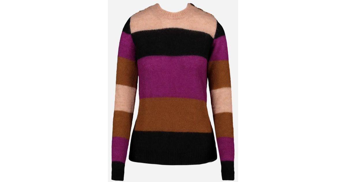 0986e1c79a3f Vanessa Save Striped Colour 34 Bruno Block In 17721518987342 Lyst Sweater  Purple ACr0gAw5qx