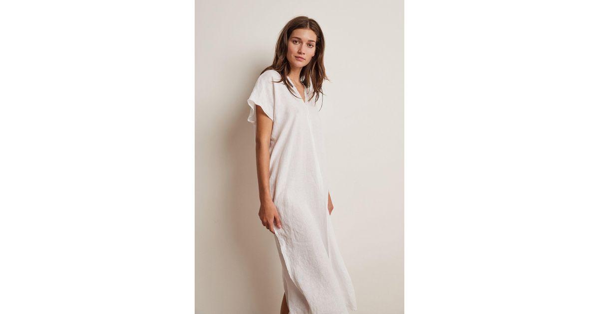 f4f510691 Velvet By Graham & Spencer London Woven Linen Caftan Dress in White - Lyst