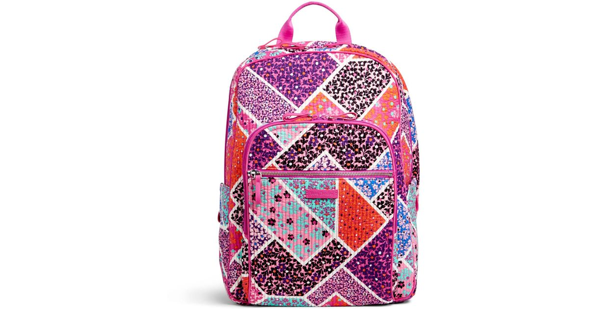 e922f67d7 Vera Bradley Iconic Deluxe Campus Backpack - Lyst