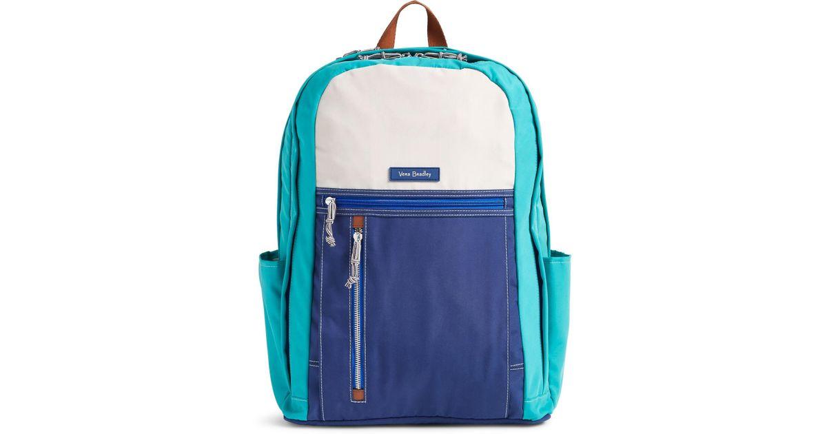 6c11d88de0f7 Lyst - Vera Bradley Grand Backpack in Blue