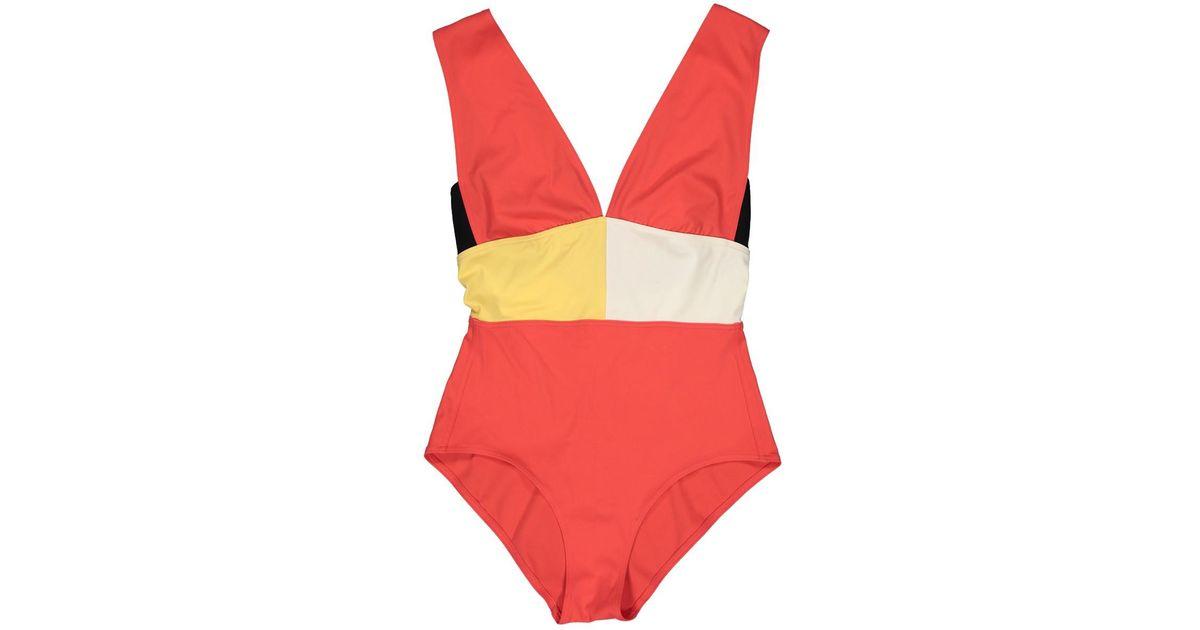 90ba03e5b084a Hermès One-piece Swimsuit in Red - Lyst