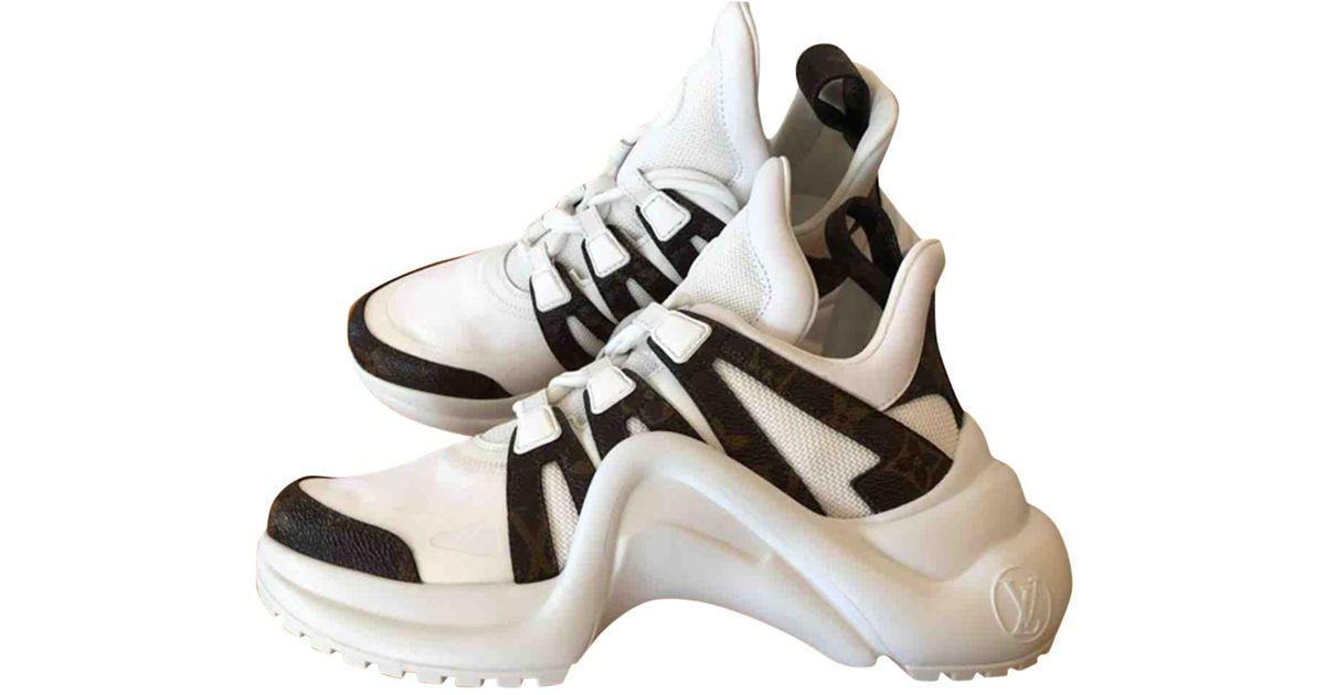 f9a010c6bd4 Louis Vuitton White Archlight Cloth Trainers for men