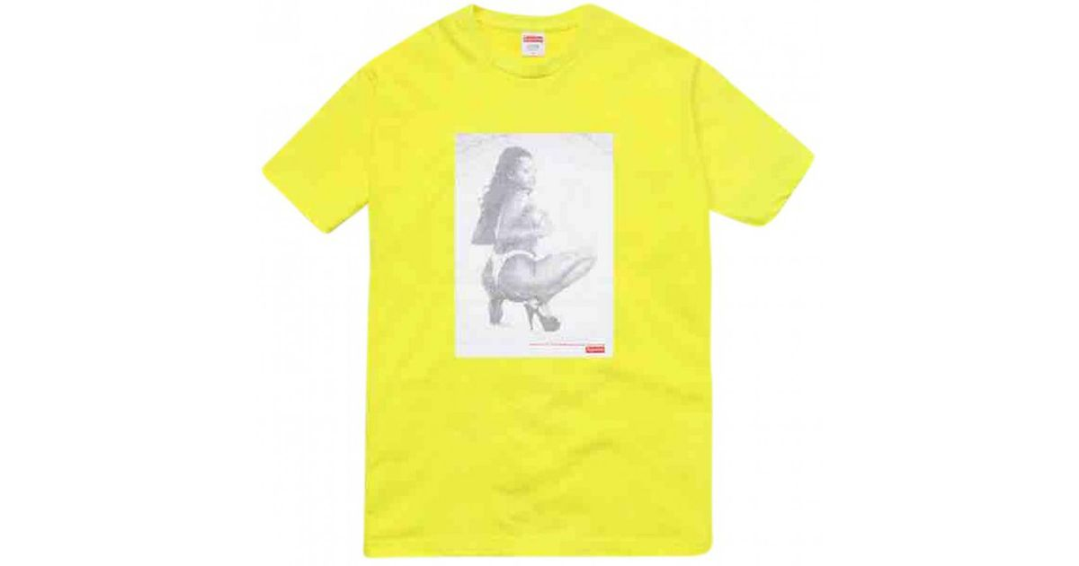 5c42241a252b Lyst - Supreme Yellow Cotton T-shirt in Yellow for Men