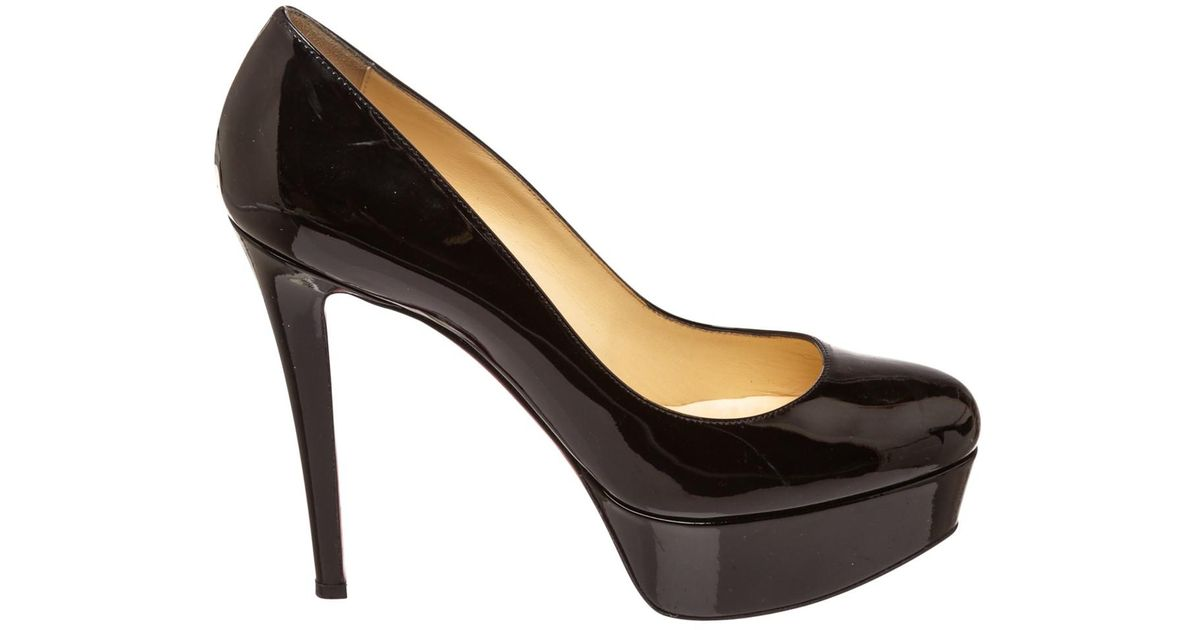 brand new 42c92 0b055 Christian Louboutin - Black Pre-owned Bianca Patent Leather Heels - Lyst