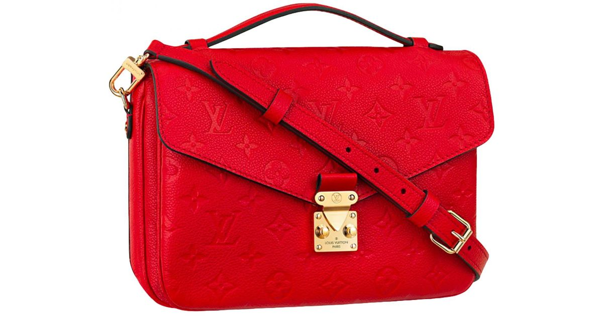 aff543e343f7 Louis Vuitton Metis Leather Bag in Red - Lyst
