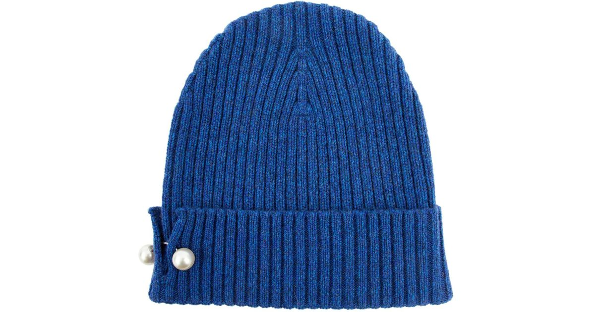 8944acbf6f8 Chanel Cashmere Beanie in Blue for Men - Lyst