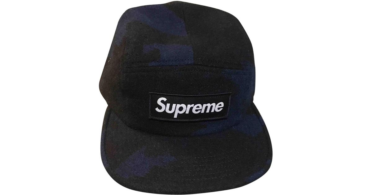 709a93e62 Supreme - Blue Pre-owned Wool Hat for Men - Lyst