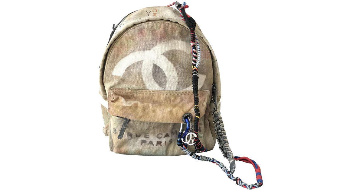 Lyst - Chanel Graffiti Backpack 1a637ae8776