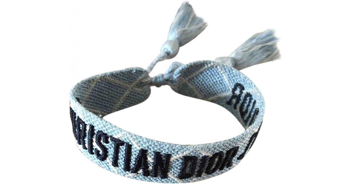 Dior J A Cloth Bracelet In Blue Lyst