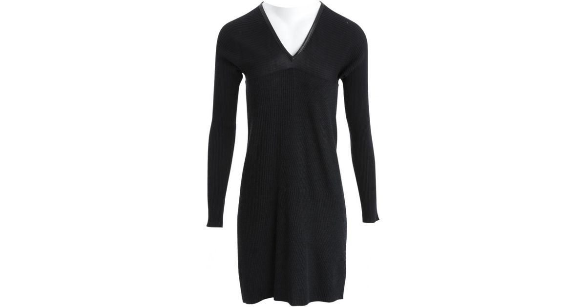 Lyst Louis Vuitton Pre Owned Black Wool Dresses In Black