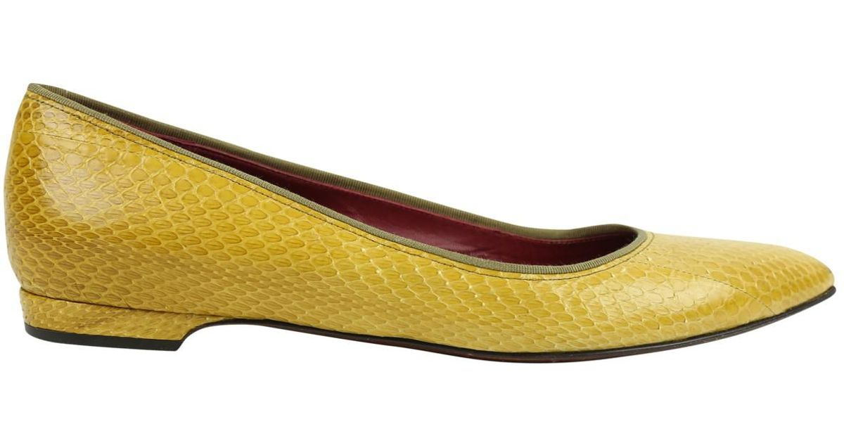 Pre-owned - Multicolour Exotic leathers Flats Lanvin