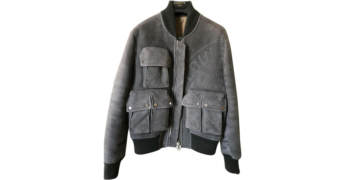 c5213facf68 Louis Vuitton Gray Leather Vest for men