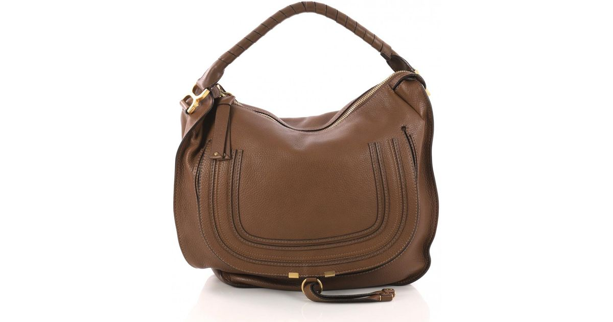 Lyst - Chloé Marcie Leather Handbag in Brown 8c65612aa6