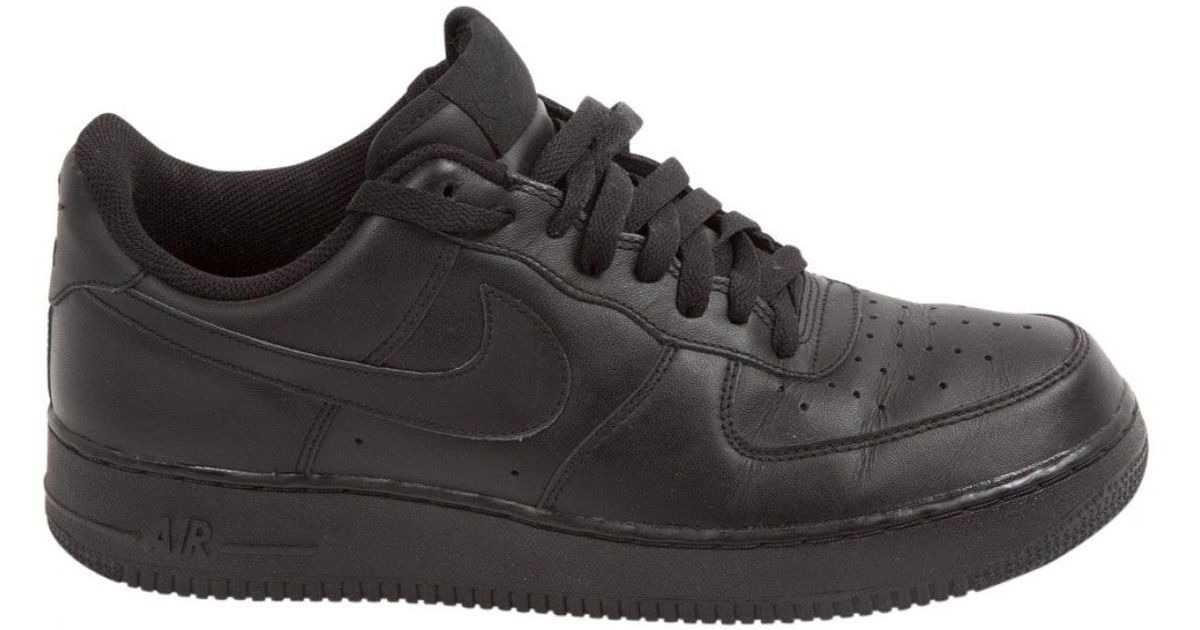 Nike Black Leather Trainers for Men - Lyst