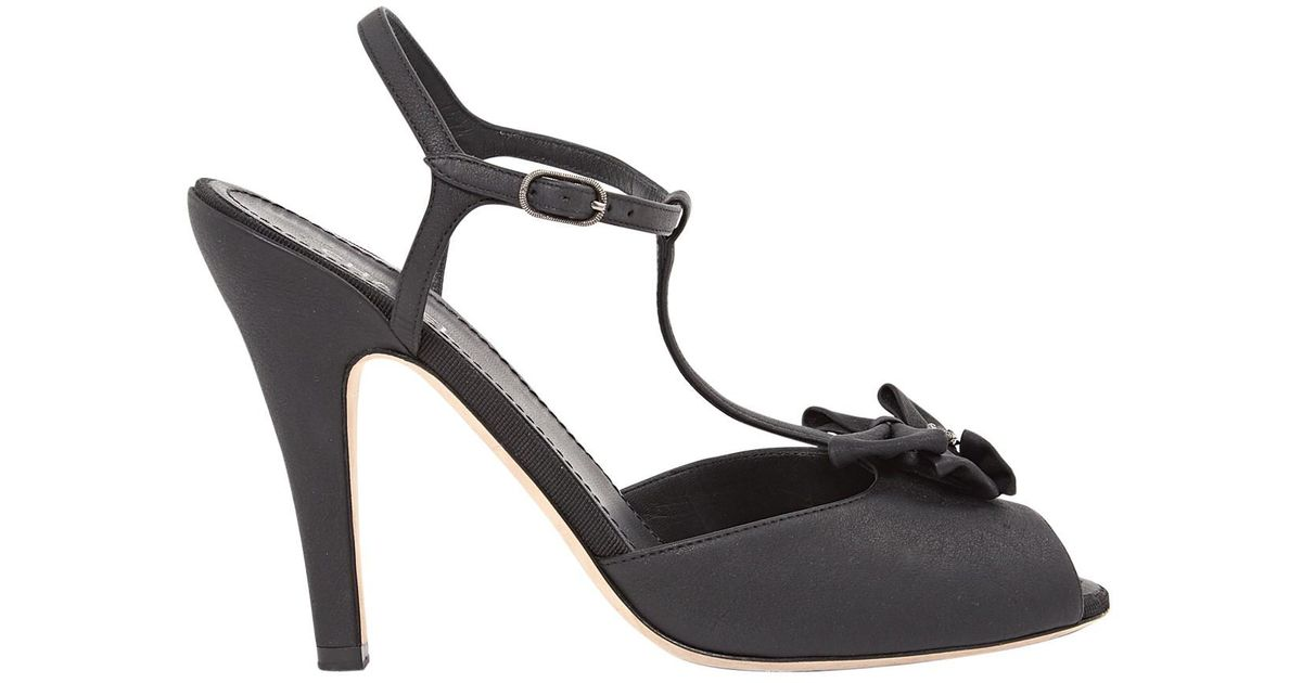 ac1dbc5f2 Lyst - Chanel Pre-owned Leather Sandal in Black