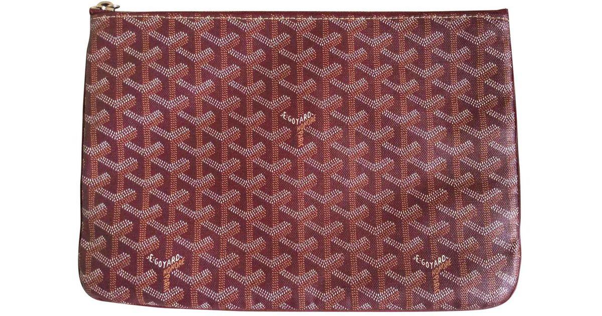 acheter pas cher ef587 ae0ae Petite maroquinerie Sénat en toile Goyard en coloris Purple