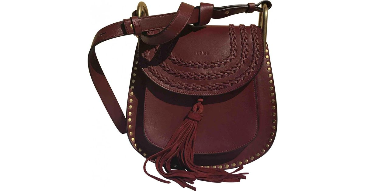 426fbca77a36 Lyst - Chloé Pre-owned Hudson Leather Crossbody Bag