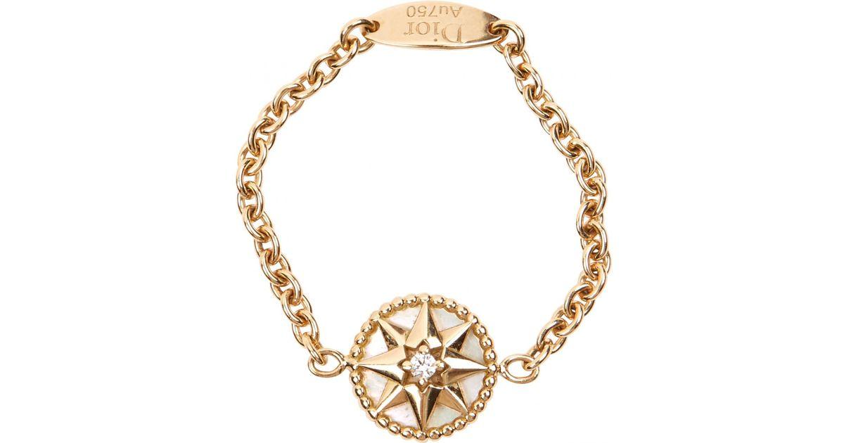 d022d19fa5 Dior - Metallic Rose Des Vents Gold Yellow Gold Ring - Lyst