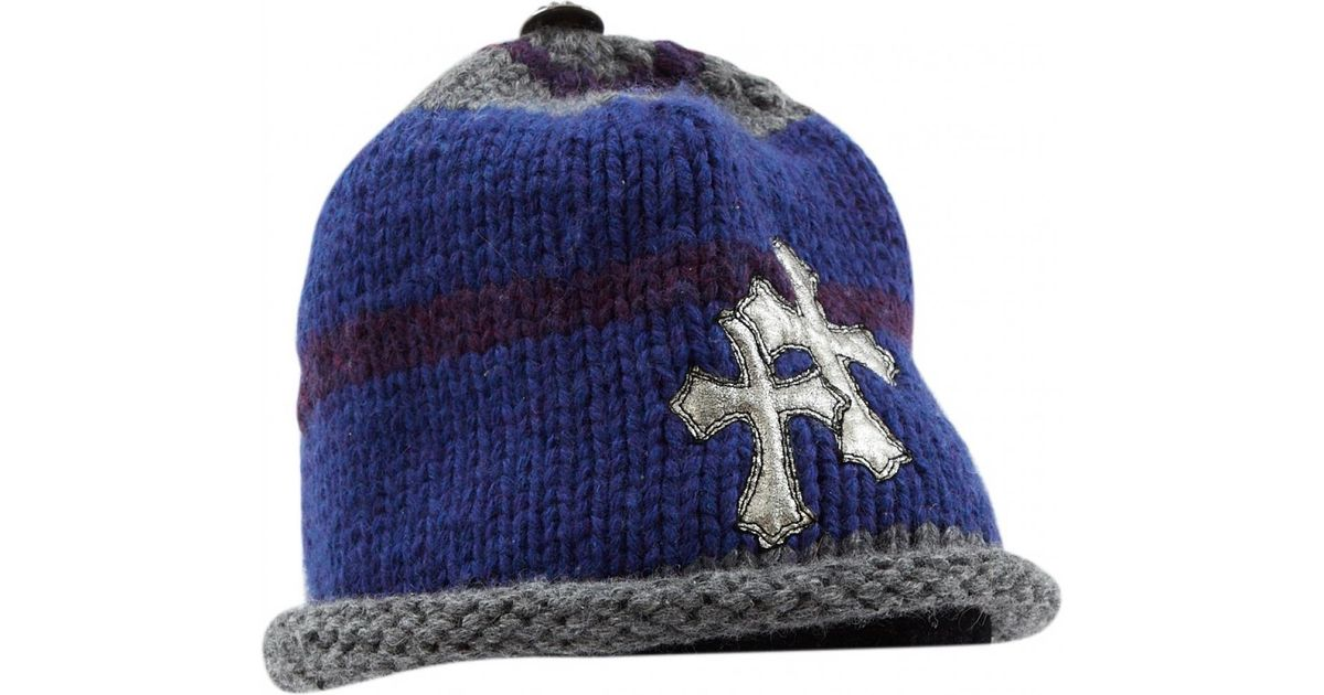 859bb6d085c Chrome Hearts Multicolour Wool Hats   Pull On Hats in Blue for Men - Lyst