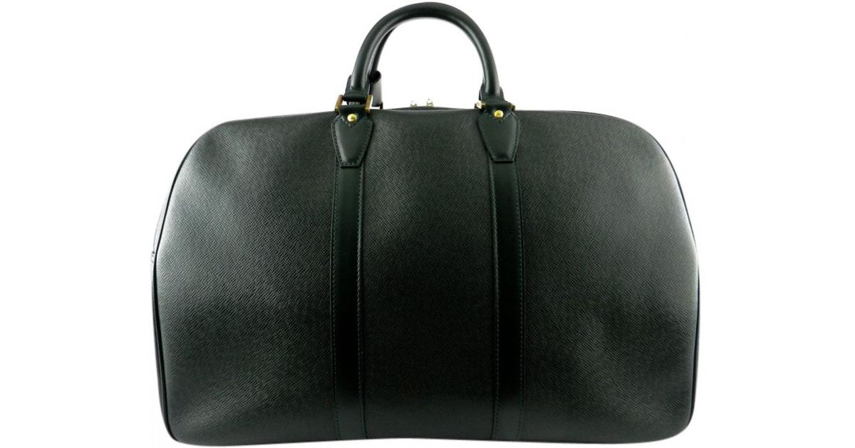 2969e1cab2c5 Lyst - Louis Vuitton Keepall Leather Weekend Bag in Green