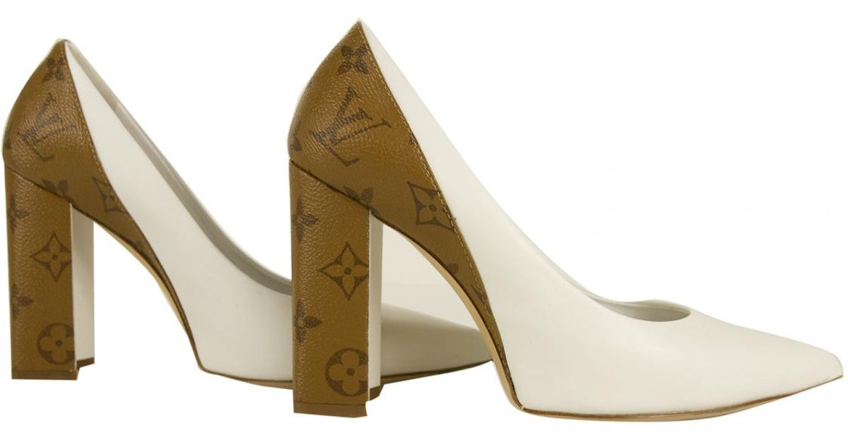 Louis Vuitton Leather Heels in White - Lyst