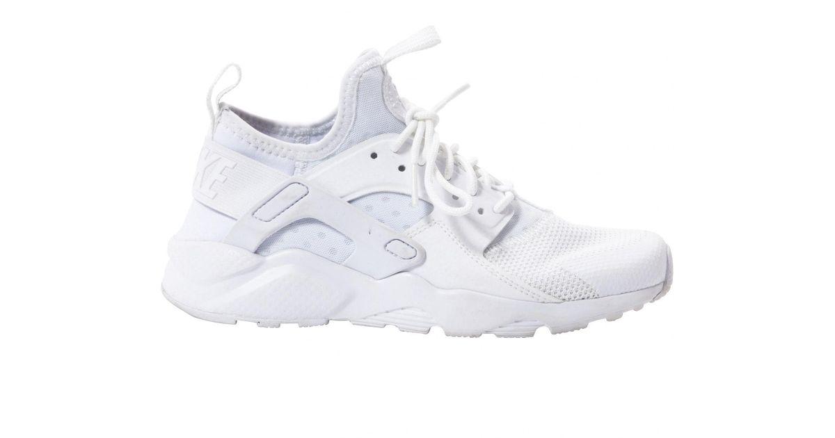 nike huarache white leather