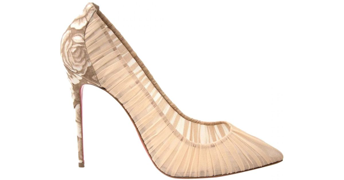 the latest 12cd8 2136c Christian Louboutin - Natural Pre-owned Iriza Heels - Lyst